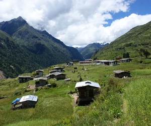 Farm houses at Phobjikha