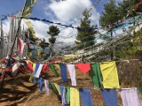 Prayer flags at Sangay Gang